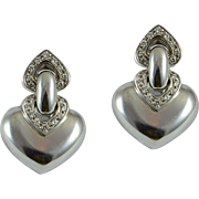 Bvlgari White Gold Diamond Earrings