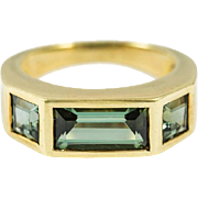 Tiffany & Co. Paloma Picasso Green Tourmaline Gold Ring
