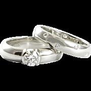 Vintage Tiffany Etoile Wedding Set