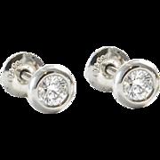 Vintage Elsa Peretti for Tiffany Diamond Stud Earrings
