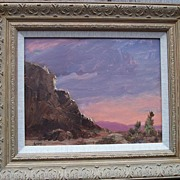 "Albert Lorey Groll 1866-1952 ""Laguna Sunset"" Oil Painting"