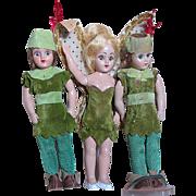 Duchess Doll Corp Walt Disney  Peter Pan & Tinker Bell Dolls