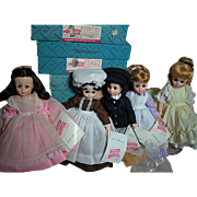 Madame Alexander Little Women Dolls  Beth  Meg  Marme  Amy and Laurie  1960s  Straight Leg 12""
