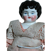 Small China Shoulder Head doll  Nicely Dressed