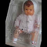 Shackman Dollhouse Doll   Baby in original Box  E Germany