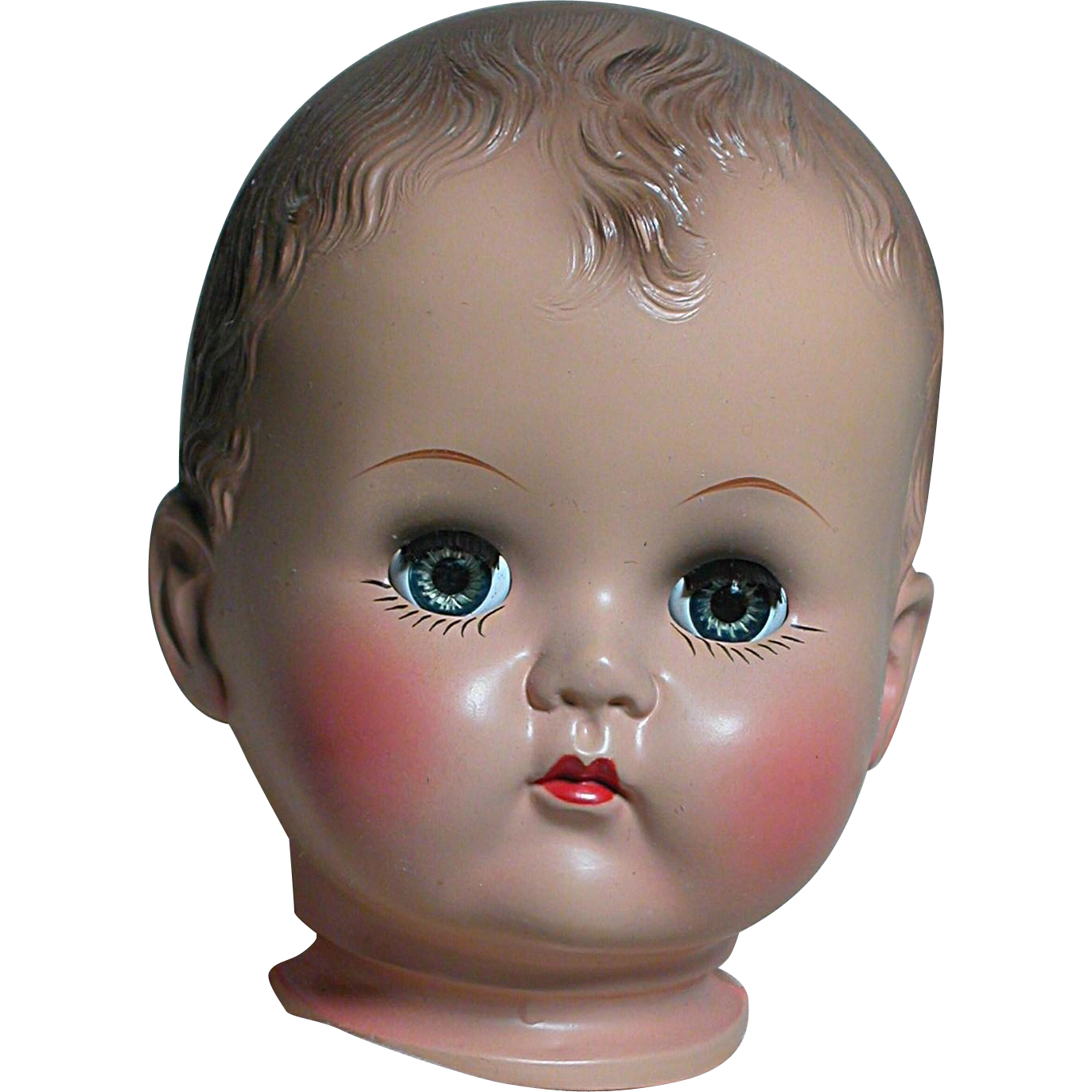 Ideal Hard Plastic Doll Head Pb 25 Old Store Stock Like