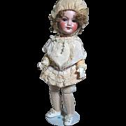 Original French Bebe Doll S.F.B.J.  301 Jumeau  Bebe Vrai Modele  Jumeau Body Label  Original Outfit & Shoes  Wears Gloves