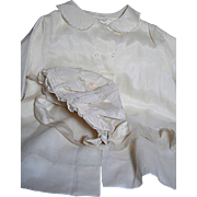 Beautiful Silk Baby Doll Jacket and Bonnet