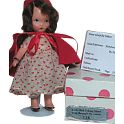 Nancy Ann Bisque Storybook Doll  #116 Little Red Riding Hood went through the Woods MIB