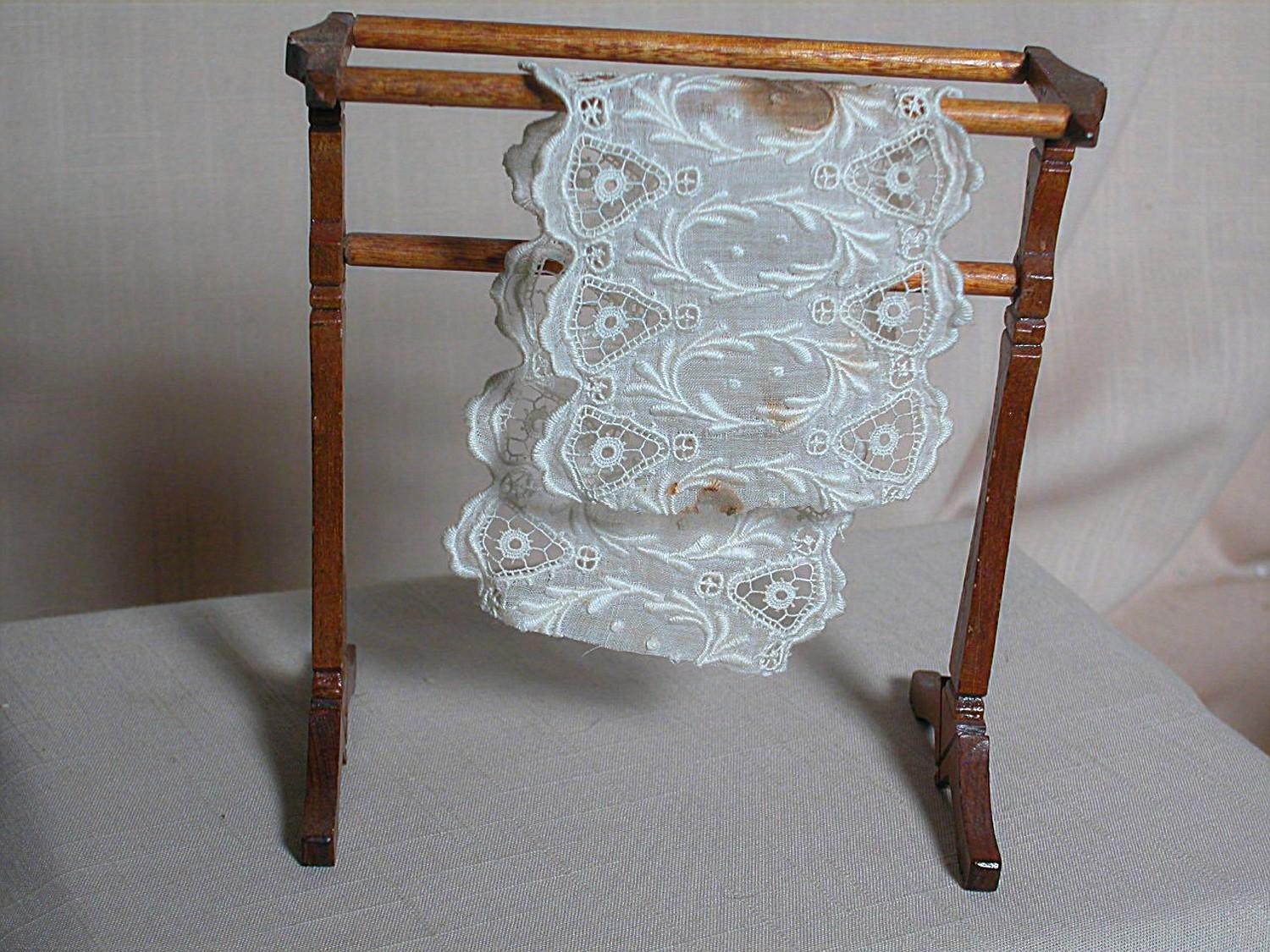 Vintage Dollhouse Nice Wood Quilt Rack From
