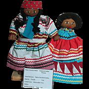 Vintage Seminole Indian Women Dolls  Native Seminole Indian dolls From  Miccosukee Tree
