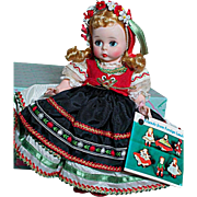 Vintage Madame Alexander Doll Bent Knee  Friends from Foreign Lands  Polish   Mint in Box