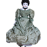Lovely German China Shoulder Head Doll  Dressed Nicely   Small Size