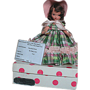 Nancy Ann Bisque Storybook Doll  Little Miss Donnet She wore  a Big Bonnet  MIB