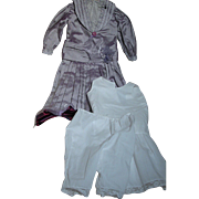 Vintage Doll Dress for French or German Bebe with Slip & Panties