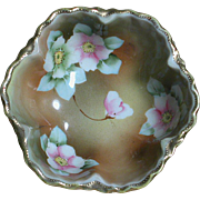 Vintage Nippon Candy or Nut Bowl Hand painted  Very pretty