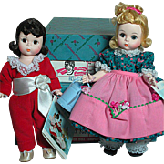 Madame Alexander Two Dolls   Red Boy and Mary Mary  Mint is Box