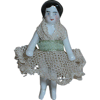 German Frozen Charlotte China doll  Nicely dressed
