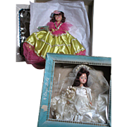 2 Vintage Dolls  Beehler Virga Bride &  Duchess Dolls of all Nations both in Original Boxes