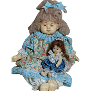 Niada Artist Doll by Ruth De-Nicola  Wax doll  One of  a Kind