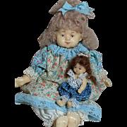 Two Niada Artist Dolls by Ruth De-Nicola  Wax Medium dolls Sisters or Mother & Daughter