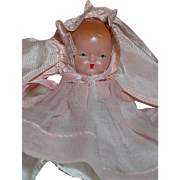 Nancy Ann Storybook Hush-a-Bye Bisque Baby  # 200 Short Dress & Cape Star Hands