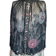 Beautiful Edwardian  Antique Beaded & Sequin Woman's Cape