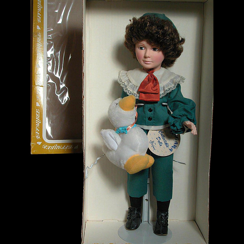 Jan Hagara Figurines: Effanbee Jan Hagara Vinyl Doll MIB Larry From