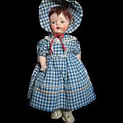 Vintage Composition Shoulder Head Cloth Body Horsman Doll all original