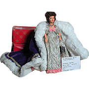 Vintage Peggy Nesbit Miniature Royal Figure Doll Portrait Costume Doll MIB & Tag Queen Alexandra