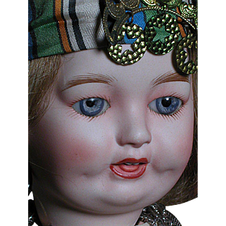 French Lanternier Limoges Character Toto Doll Fortune Teller Gypsy Outfit