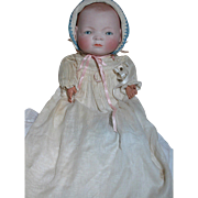 German Doll Bisque Head Bye Lo Baby  Marked Head & Cloth body 14 inch Head Cir