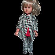 Vintage Vinyl doll Italian  Bettina  Doll  Made by Sebino  Original Outfit