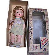 Vintage The Baby Walker  in Original Box  Hard Plastic Doll