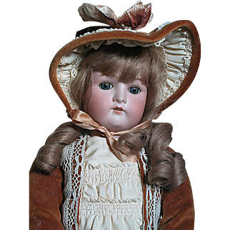 "German Cuno Otto Dressel Doll Composition Doll 23""  Beautiful"