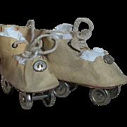 Vintage Doll Roller Skates Shoes  for Vintage Doll