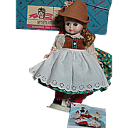 Madame Alexander Tyrolean Girl  Maggie Mixup face Bent Knee Walker