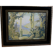 Beautiful  Print Melody of Love  by Vladimir Pavlosky in a Art Deco Frame