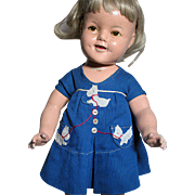 Ideal Composition Shirley Temple Doll Early Mark  21 inches tall