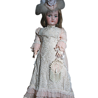 "Large Armand Marseille Doll Wonderfully Dressed as a Lady  32"""