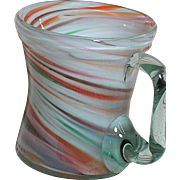 Old Czech Czechoslovakia Swirl or Variegated Glass Mug