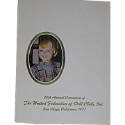 UFDC Souvenir Book of the 28th annual Convention  San Diego California   1977