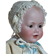 Beautiful German  JDK 16 Kestner Character Baby Doll in Christning Gown Composition body