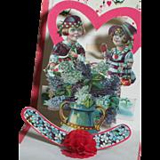 Vintage to My Valentine Bonnie Lassie Greeting Card 1920s