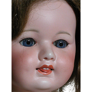 """Very Rare SFBJ # 246 French Doll  Two Teeth and a Protruding Tonque Composition Body 21"""""""