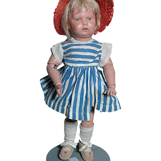 Schoenhut Wood Toddler Doll Wood Jointed body Incised Schoenhut Mark on Back