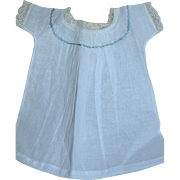 Antique French Fashion Doll Slip  White cotton with Lace Trim