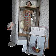 Danbury Mint Autumn Flower Bride Doll of the Plains Native American Bride Collection   MIB