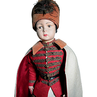 """Large Felt Cossack Doll Wonderful Original Outfit  Swords in the Boots  27"""""""
