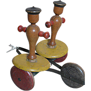 Old Pull Toy Whirly Tinker  by The Toy Tinker Co.  Metal & Wood